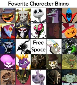 favorite character bingo by TakAshleyRed
