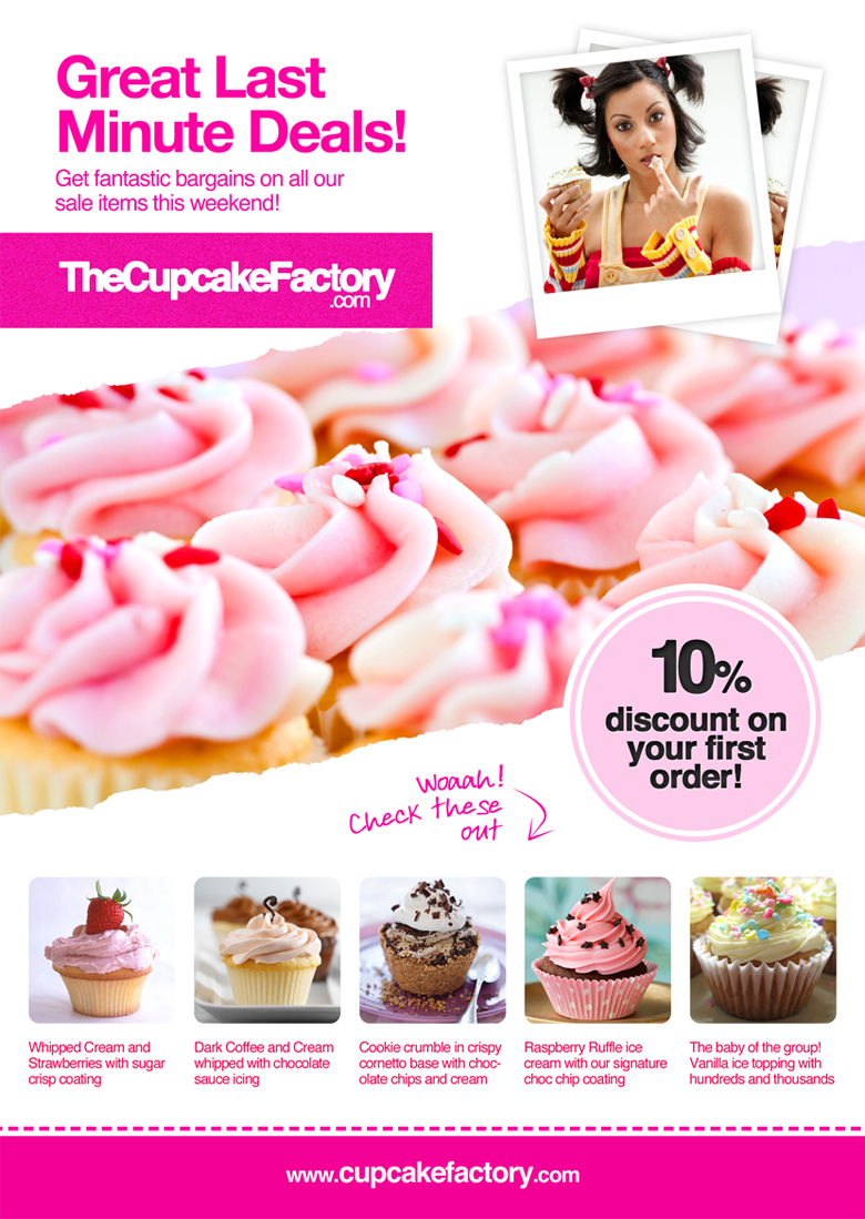 free psd cupcake flyer mabel mobeetel co