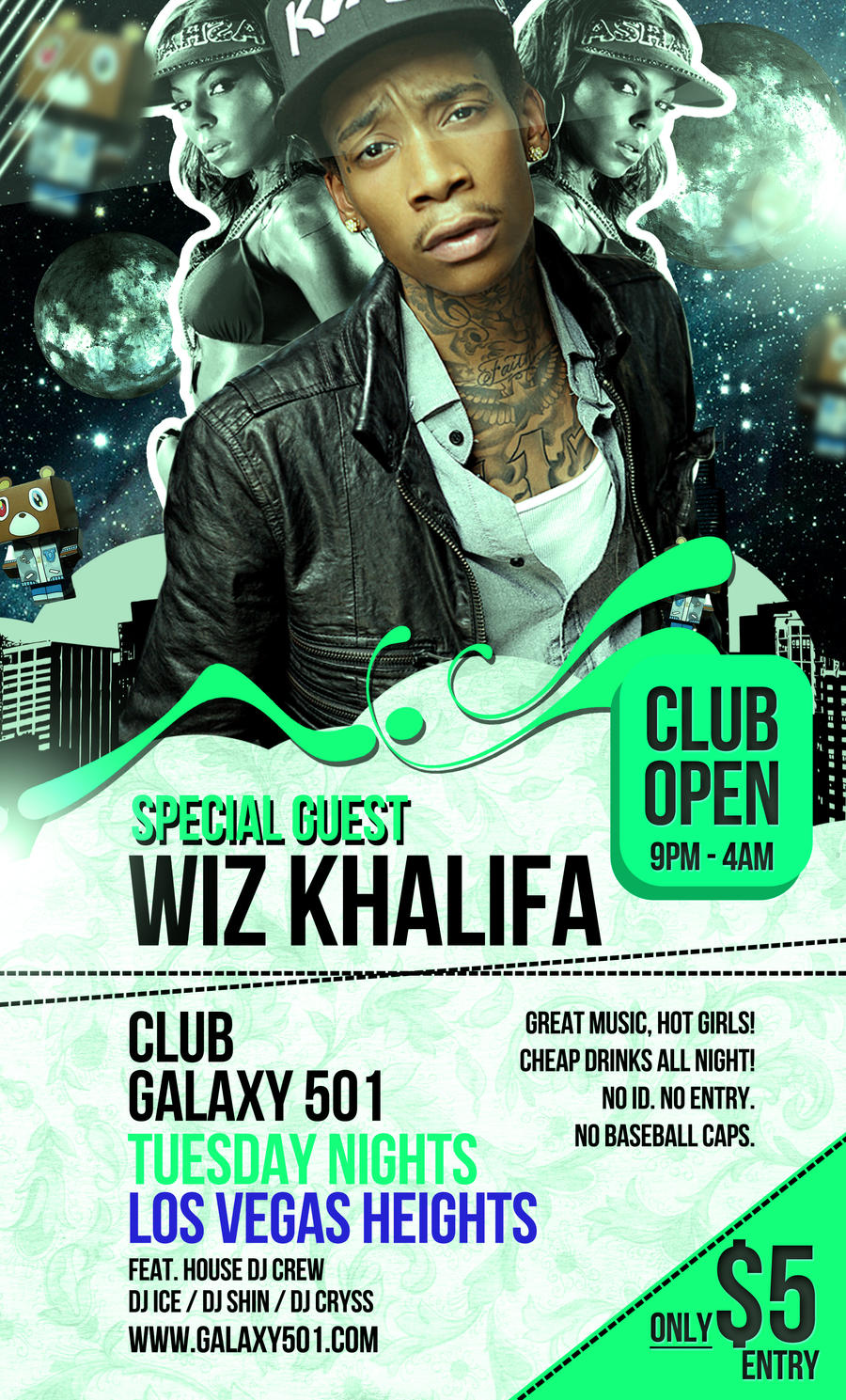 Free PSD Hip Hop Party Flyer Template by quickandeasy1 on ...
