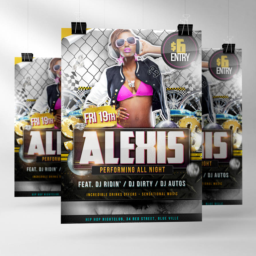 Roller PSD Hip Hop Flyer Template By Quickandeasy1 ...