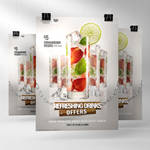 Drinks Advert Poster Template PSD Vol 2