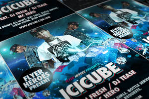 Icicube Free Hip Hop Photoshop PSD Flyer Template by quickandeasy1