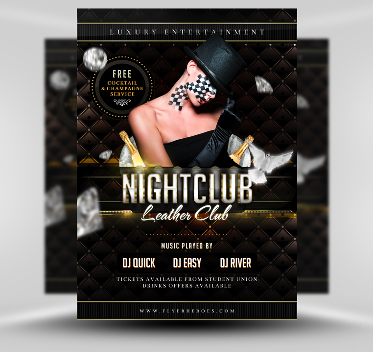 luxury nightclub flyer template psd by quickandeasy1 on deviantart