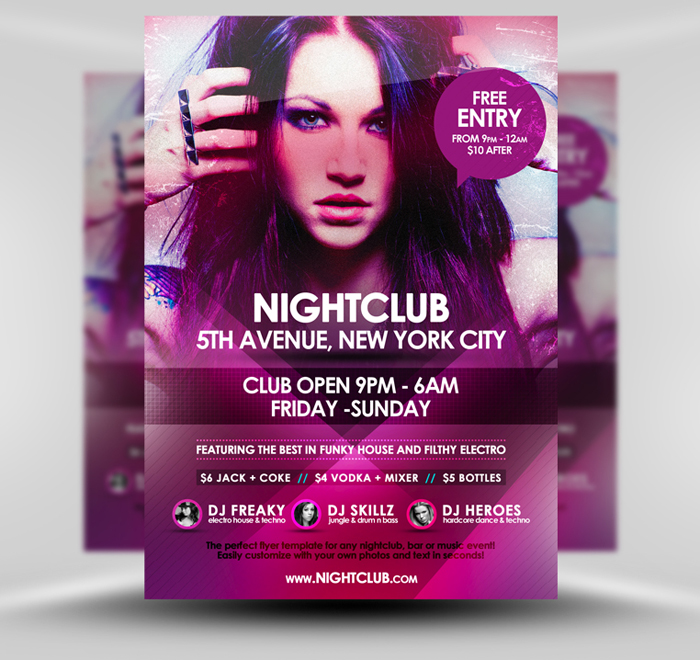 Nightclub Event Psd A5 Flyer Template By Quickandeasy1 On Deviantart