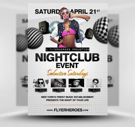 Nightclub PSD Party Flyer Template by quickandeasy1
