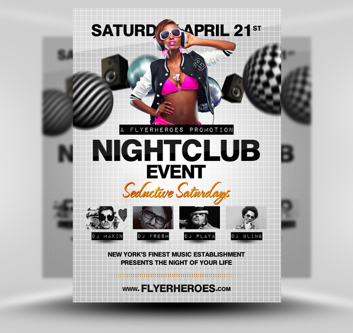 Nightclub PSD Party Flyer Template by quickandeasy1 on
