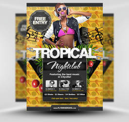 Free Summer Tropical Beach Party Flyer Template