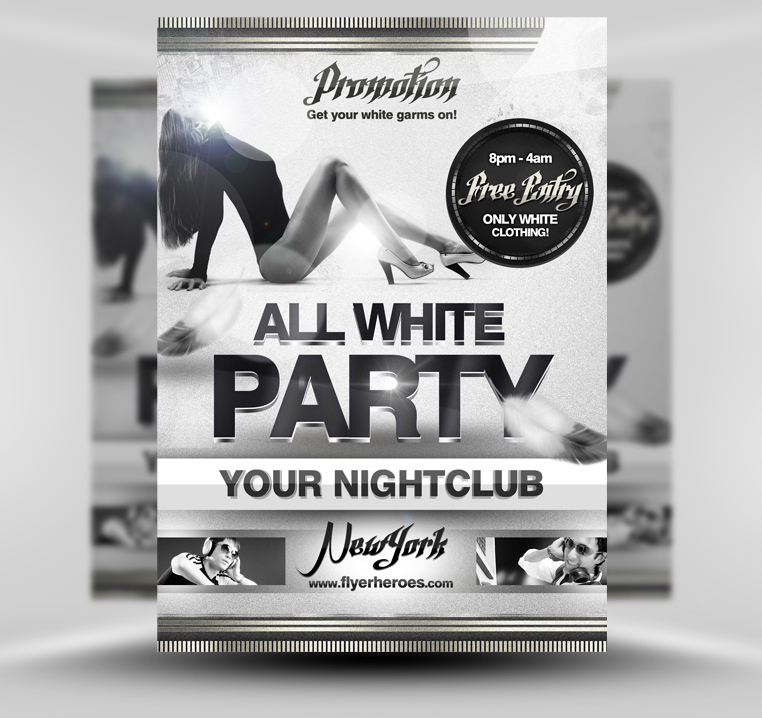 All white party flyer template by quickandeasy1 on deviantart for Flyerheroes free