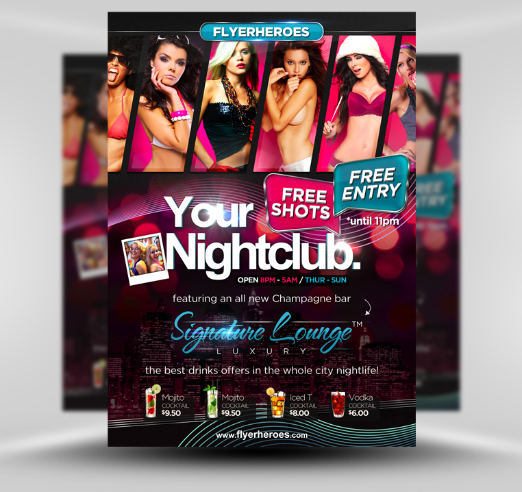 Club Flyers Templates Signature club flyer template