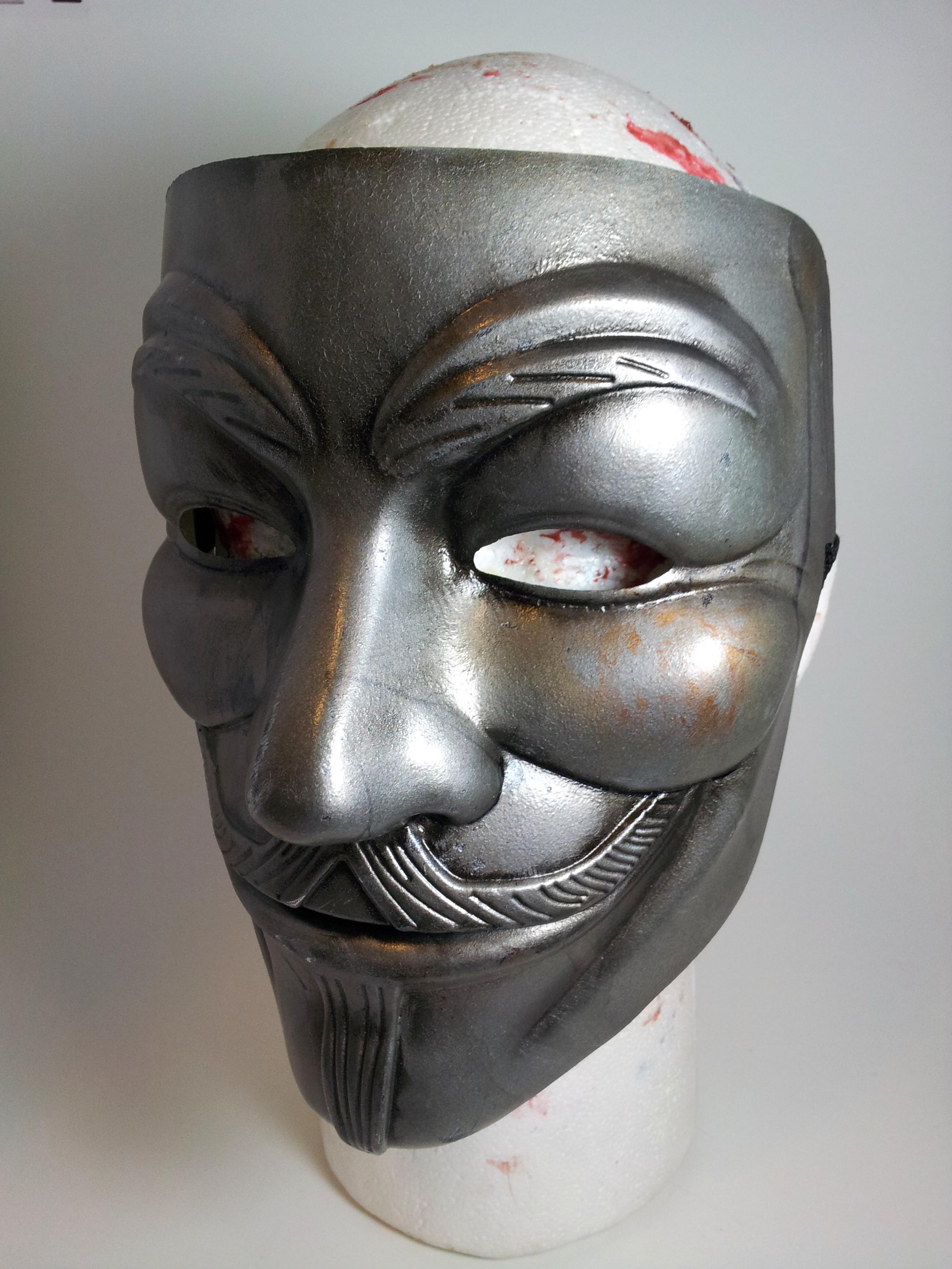 Guy Fawkes Metal Mask ...V For Vendetta Mask Wallpaper