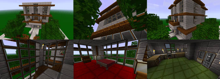 Minecraft House + Texture Pack