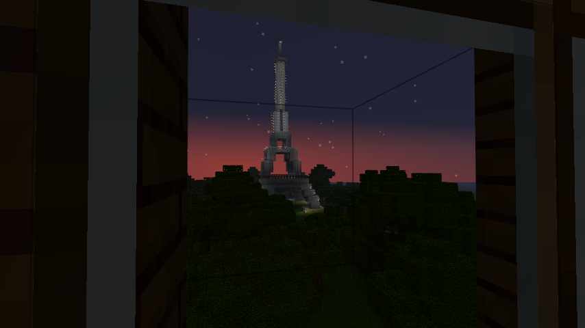 how to build the eiffel tower in minecraft
