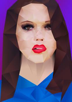 Polygonal portrait