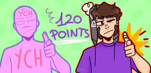 120 points Finger gun YCH uwu by ghostxce