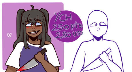 yandere ych OPEN 250 pts / 2.80 usd