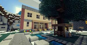 City Hall in Minecraft by EleckAddict