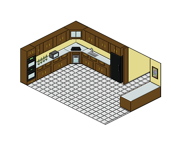 Isometric Kitchen by CAlle-Evan