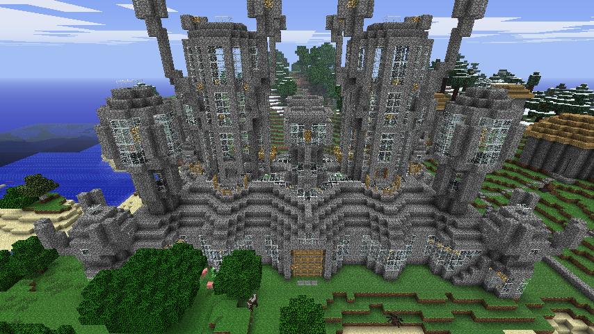 Minecraft  Huge Castle  By Eananders On Deviantart