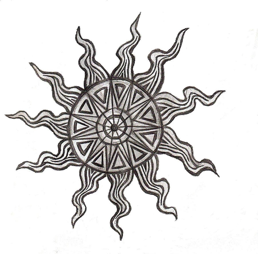 Tattoo DesignSun by