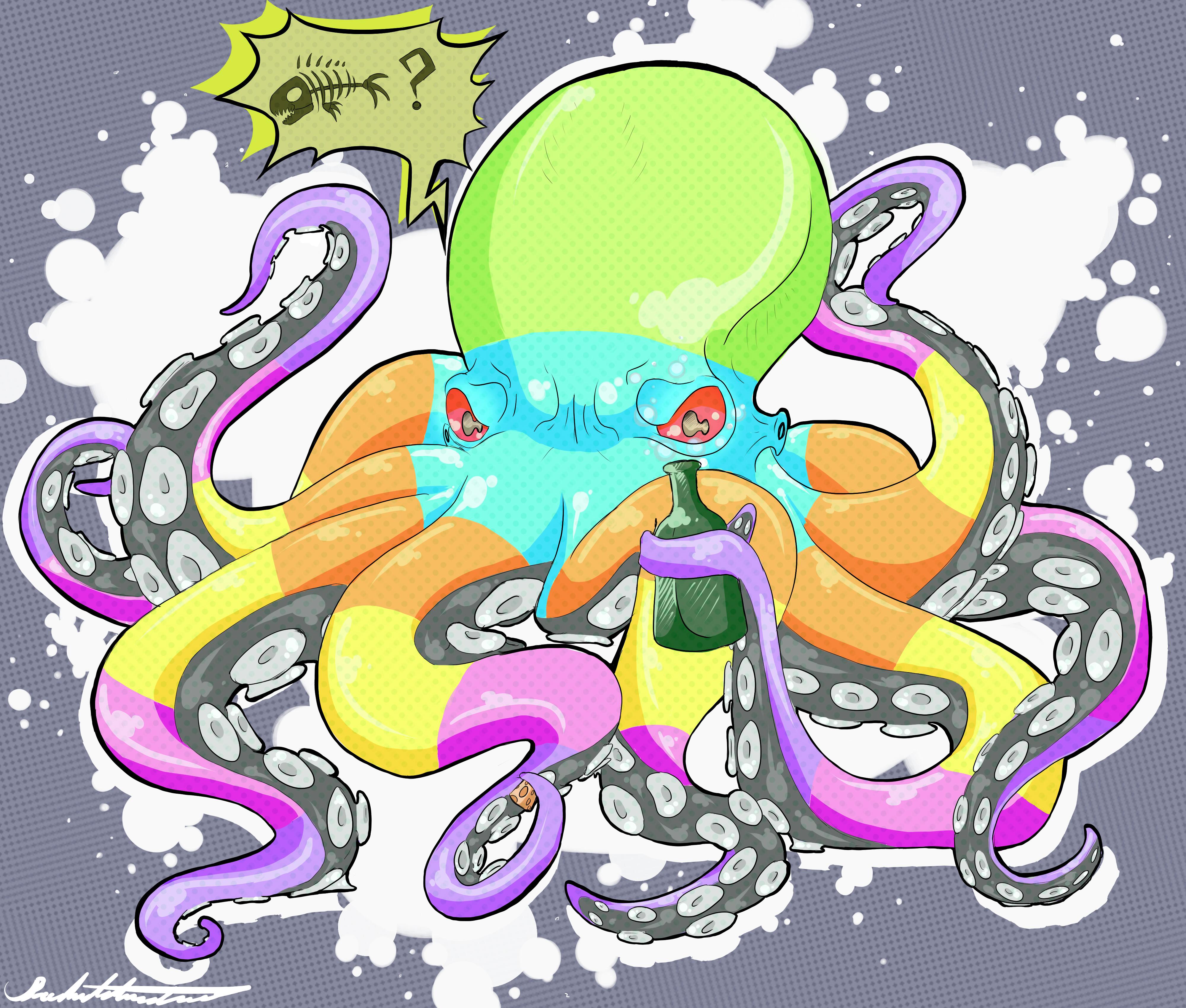 One Trippy Octopus by BloodWolf136 on DeviantArt