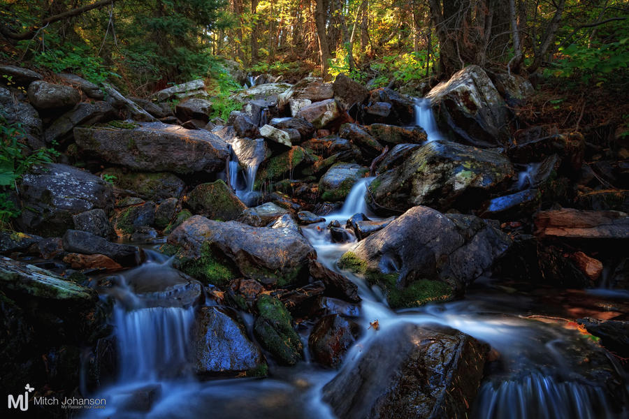 Broads Forks Fall Stream by mjohanson