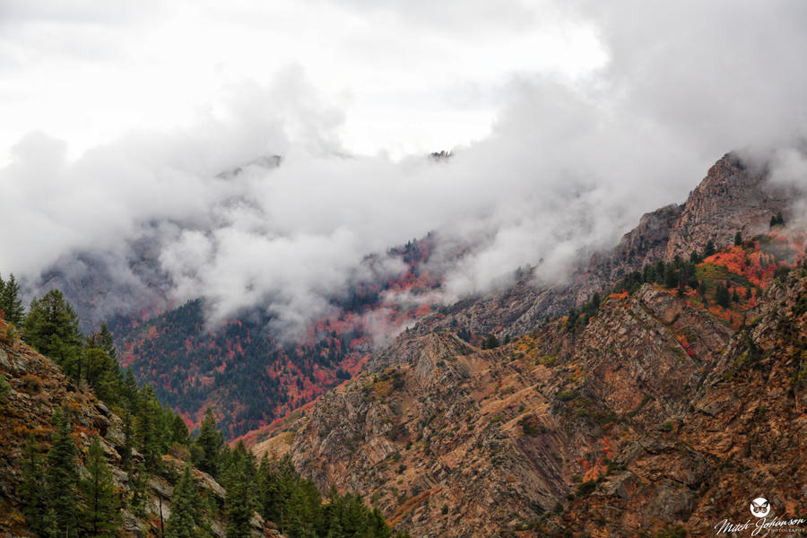 Clouds and Fog Over the Wasatch by mjohanson