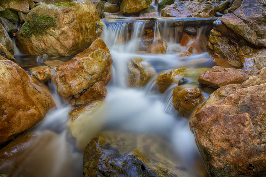 White Creamy Water and Rough Rocks by mjohanson