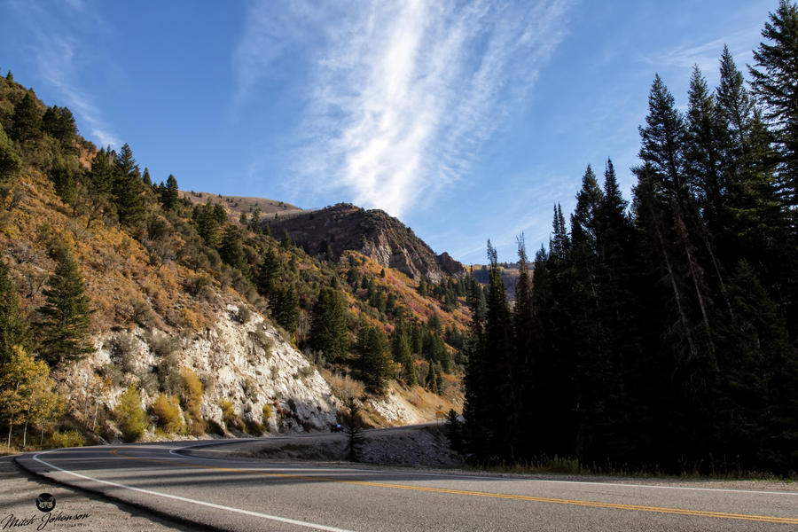 The Road Up Big Cottonwood Canyon by mjohanson
