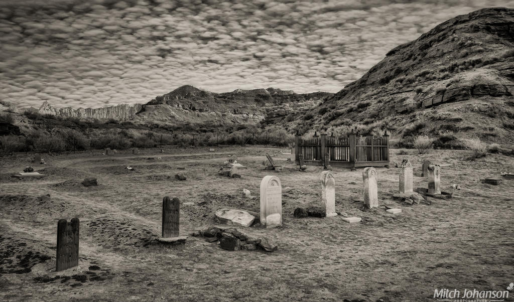 The Old Cemetery BW by mjohanson