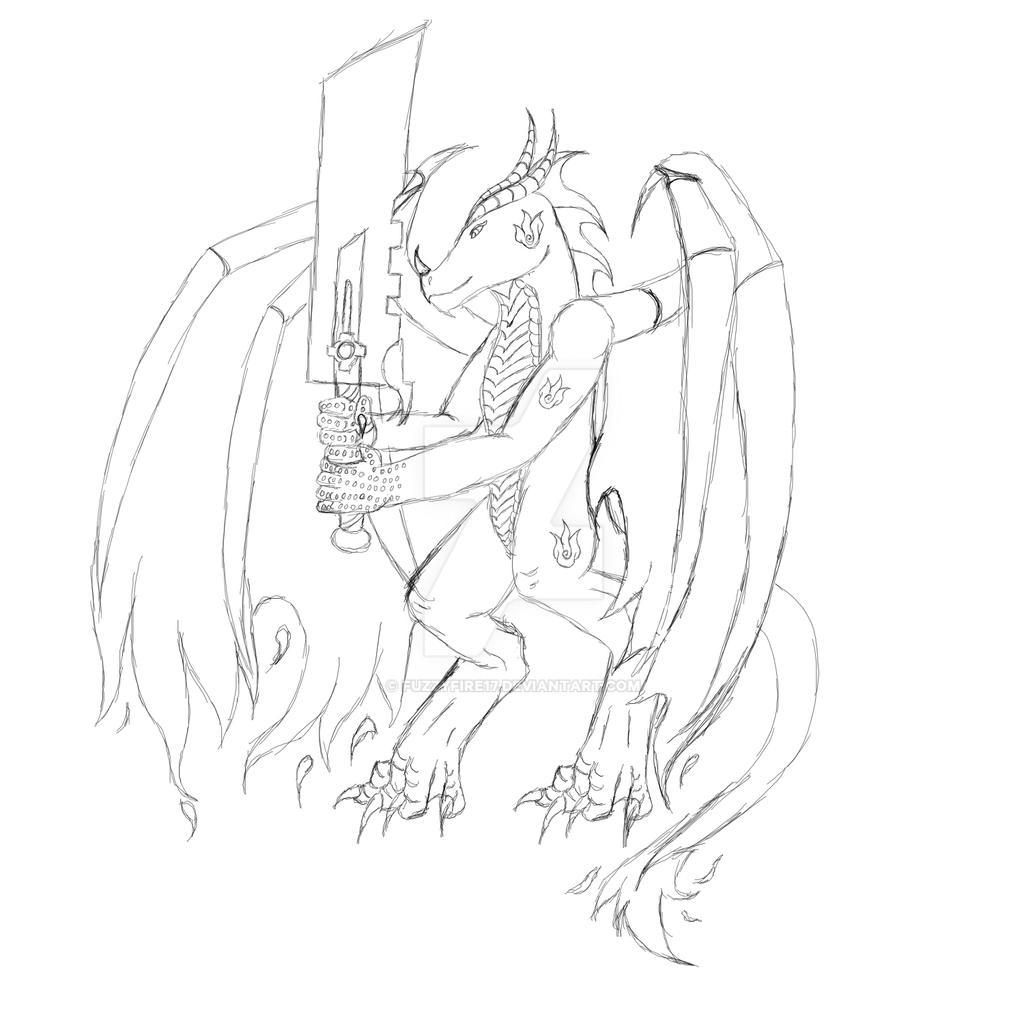 Drake-Battle Form-Resketch by Fuzzyfire17