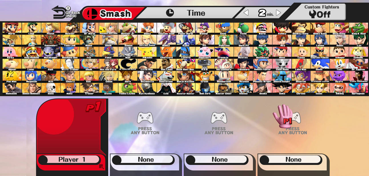 Smash bros roster template