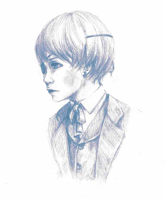 Portrait of Boy in Blue by i-RaiNy-i