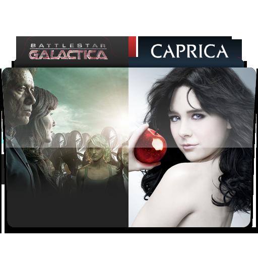 Battlestar Galactica + Caprica Folder Icon by Necris05