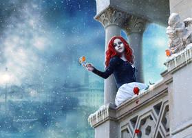 Juliet (Winter on the Balcony) by ChristabelleLAmort
