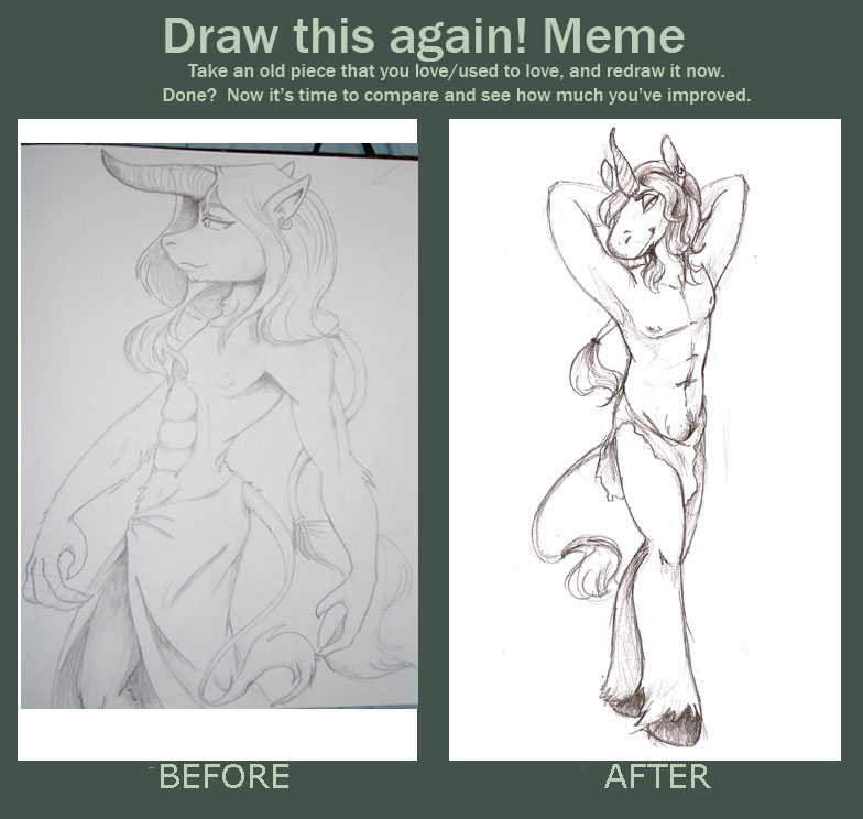 Before And After Unicorn Guy By Silent-nona-light On