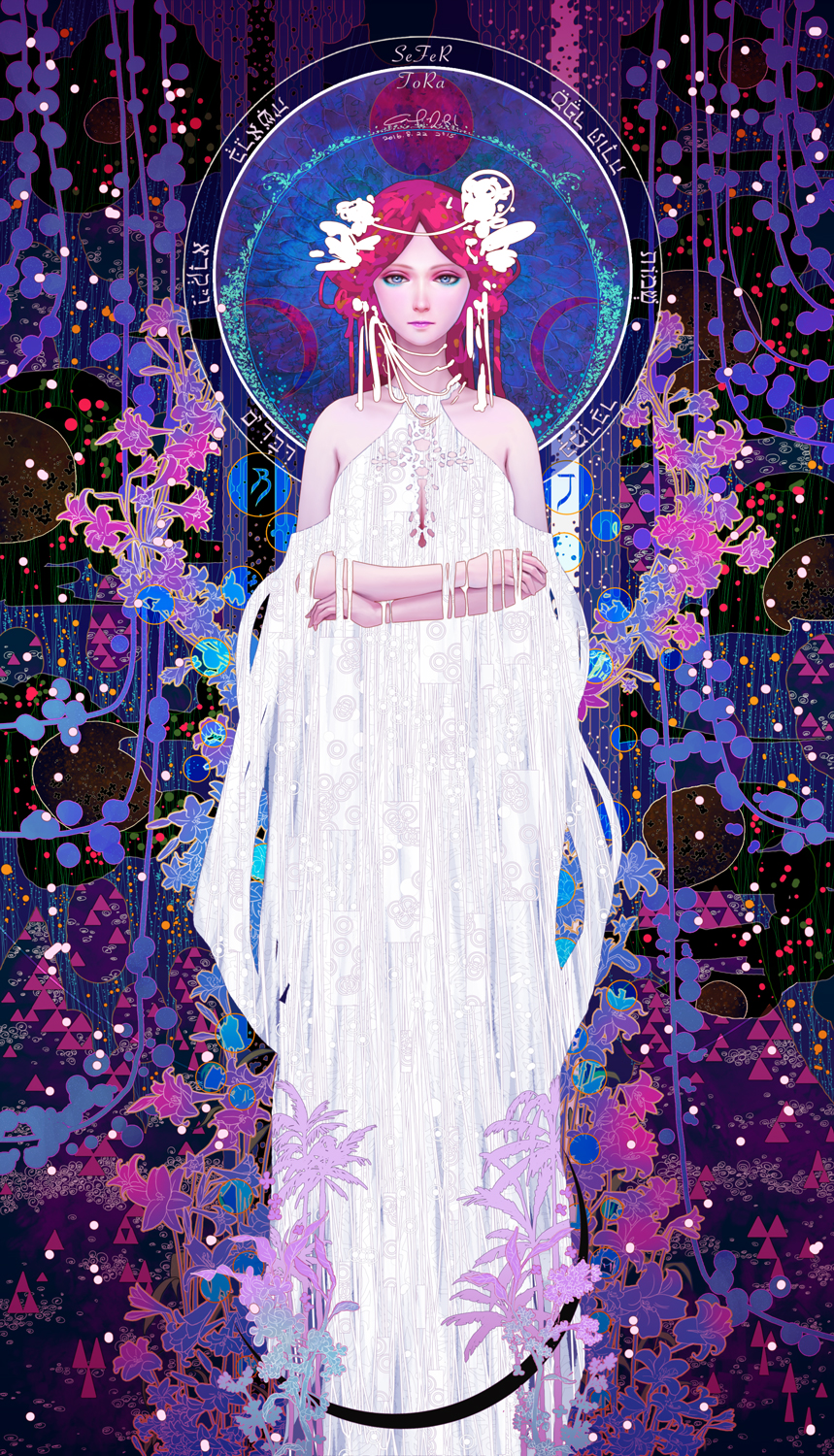 High Priestess Full Colorful Deck Major Stock Illustration: Tarot-02-The High Priestess By Casimir0304 On DeviantArt