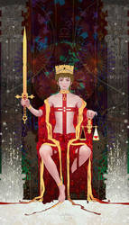 Tarot-11-Justice by casimir0304