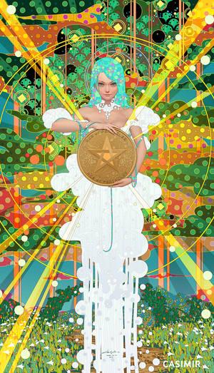 CASIMIR ART Minor Arcana - ACE of PENTACLES