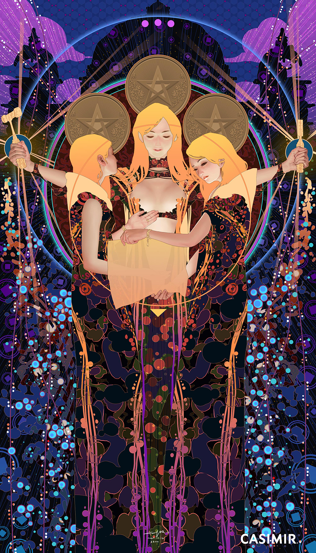 CASIMIR ART Minor Arcana - THREE of PENTACLES
