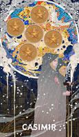 CASIMIR ART Minor Arcana - FIVE of PENTACLES