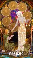 CASIMIR ART Minor Arcana - SIX of PENTACLES
