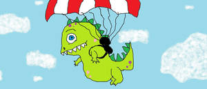 parachuting dragon