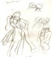 Kakashi Rin doodles by hopelessromantic721