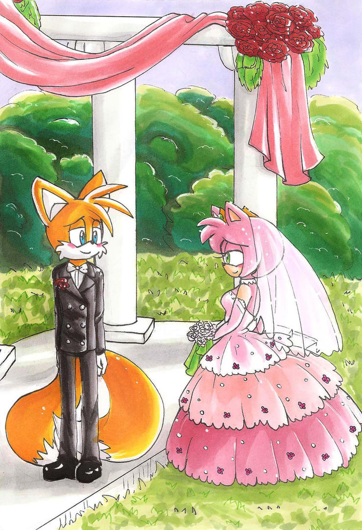 a tails and amy wedding by hopelessromantic721 on deviantart