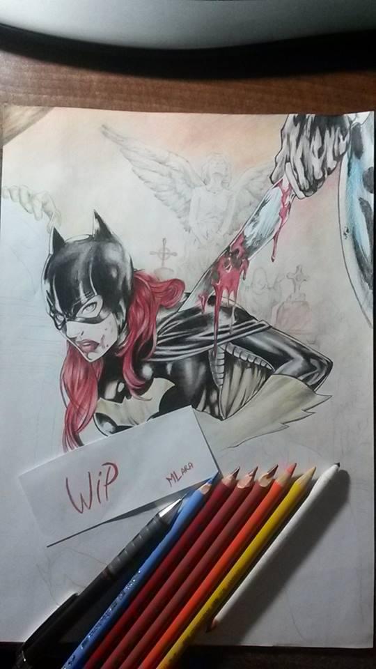 Batgirl WIP by TaraLumina