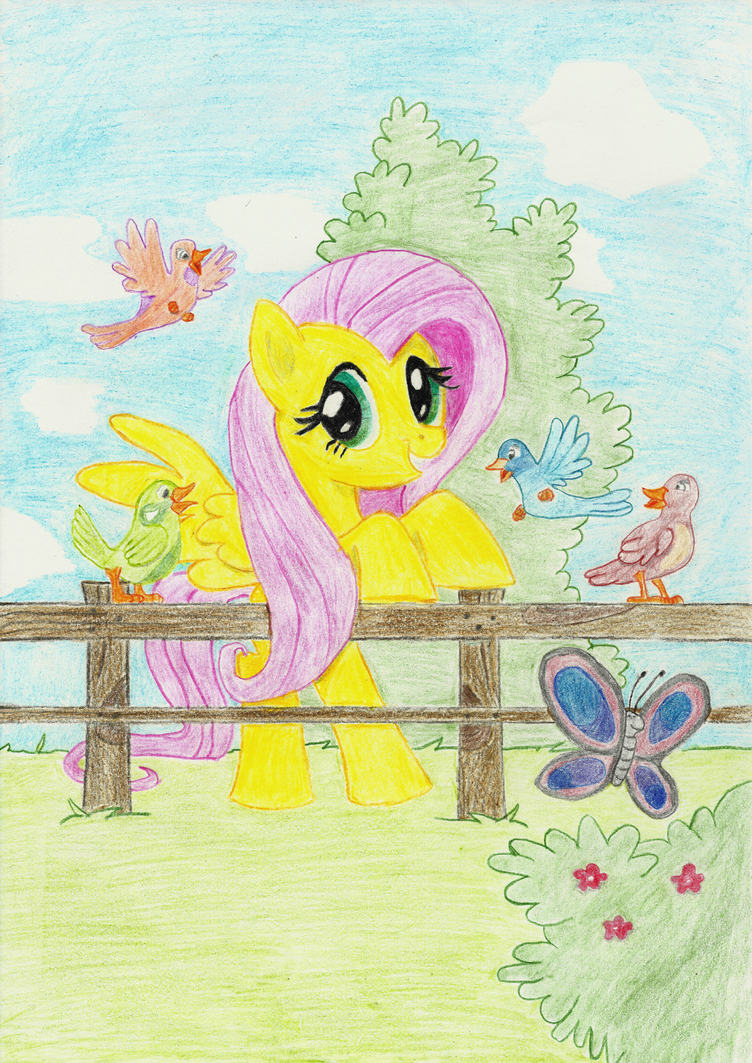 Colouring Flutters by R1nKaenbyou