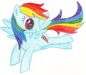 Quick Colouring of Rainbow Dash