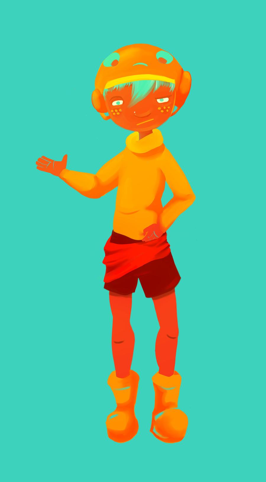 Colored Cyan Boy by NakedG