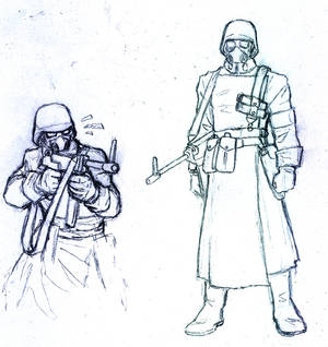 Sketch Future Nazi Soldier