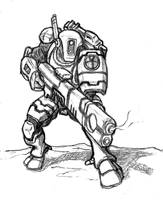 TAU Fire Warrior sketch by Darcad